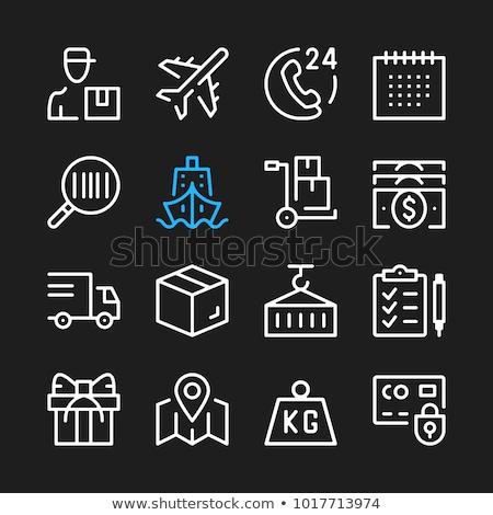 Házhozszállítás szállítmány teher ikonok háló mobil Stock fotó © karetniy