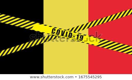 Belgium flag illustration. Coronavirus danger area, quarantined country. Stock photo © asturianu