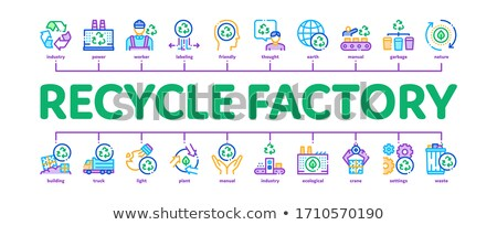 Recycle Factory Ecology Minimal Infographic Banner Vector Stock photo © pikepicture