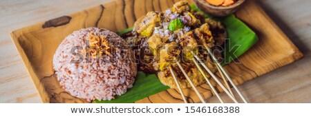 インドネシアの ランチ セット メニュー コメ 野菜 ストックフォト © galitskaya