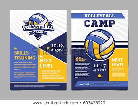 Volleyball Sport Announcement Flyer Banner Vector Stock photo © pikepicture
