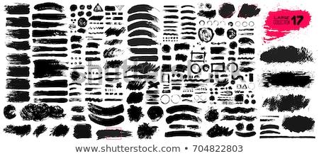 Set nero acquerello vernice grunge Foto d'archivio © SArts