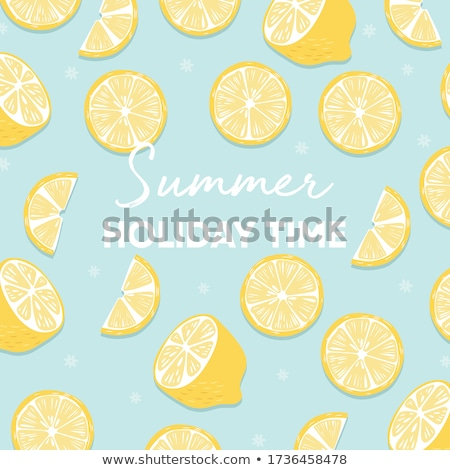 Fruit design with summer holiday time typography slogan and fresh grapefruit on light purple backgro Stock photo © BlueLela