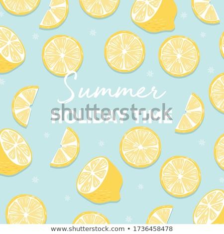 フルーツ デザイン 夏休み 時間 タイポグラフィ スローガン ストックフォト © BlueLela