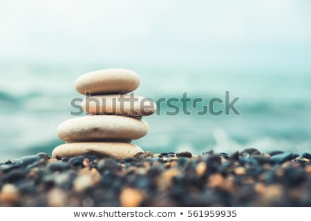 Zen balanced stones stack balance peace silence concept Stock photo © dmitry_rukhlenko