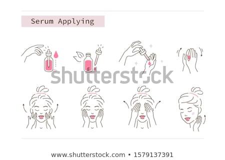 Dermatoloji cilt bakımı toplama vektör eller Stok fotoğraf © pikepicture