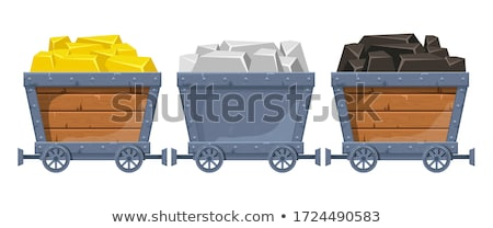 Wagon with Coal, Mining Industry Cargo Vector Stock photo © robuart