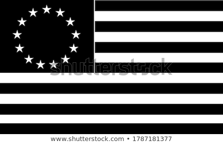 Betsy Ross Flag an Early Design of United States Flag Black and White Illustration Stock photo © patrimonio