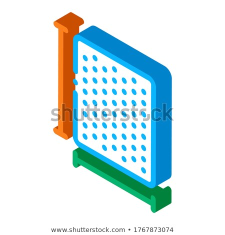 Mattress Width Length isometric icon vector illustration Stock photo © pikepicture