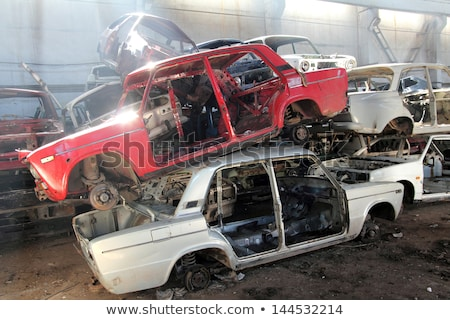 cars is returned for recycling as scrap metal Stock photo © Mikko