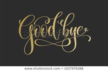 adiós · palabra · mano · rojo · concepto · texto - foto stock © ansonstock