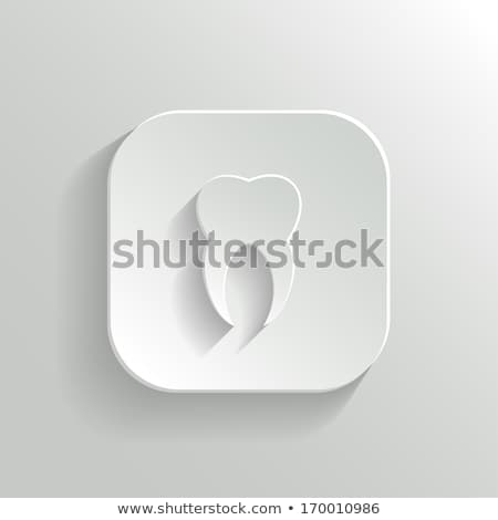 Stomatology button with tooth Stock photo © Hermione
