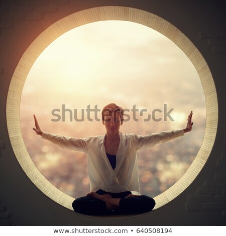 Yoga kare soyut arka plan model akla Stok fotoğraf © Lynx_aqua