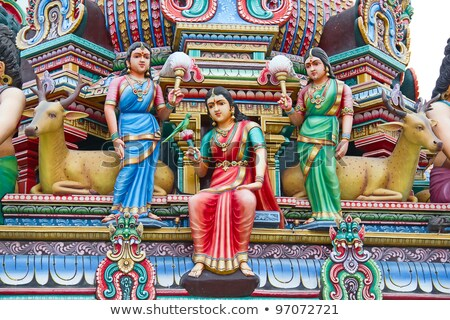 hindu temple detail in singapore Stock photo © travelphotography