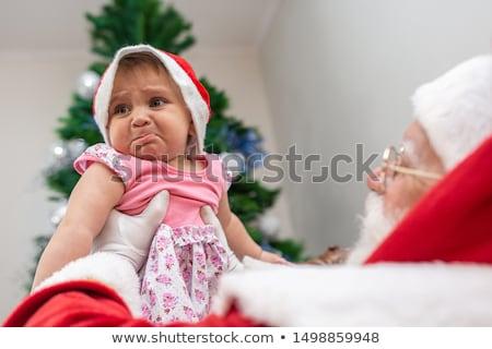 shy little santa stock photo © feedough