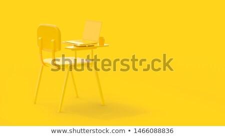 modern classroom with computers 3d render stock photo © dacasdo