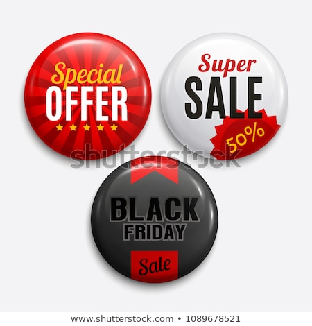 Round vector 3D white buttons for sale Stock photo © orson