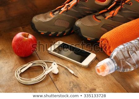 Apples over floor stock photo © Bellastera