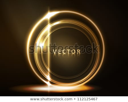 Golden glowing frame of round ring segments Stock photo © wenani