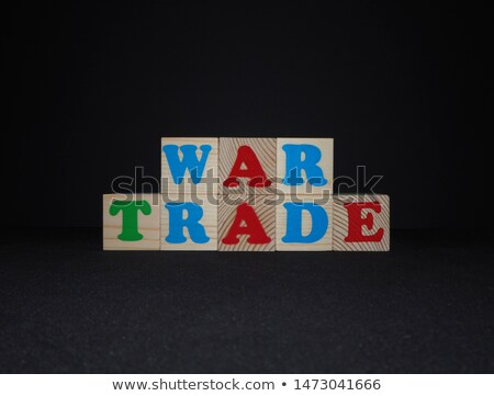 Yuan in colorful toy letters on black background Stock photo © happydancing