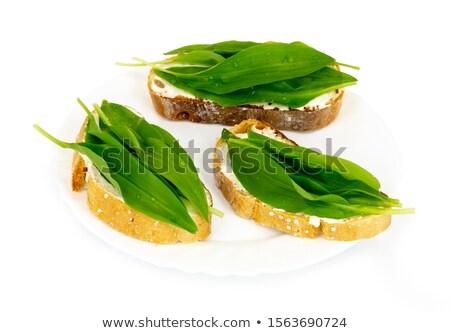 ガーリックブレッド スライス 全体 穀物 パン ストックフォト © joker