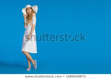 full shot of pretty caucasian female model stock photo © stockyimages