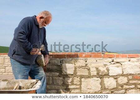 каменщик · занят · работу · дома · стены · промышленности - Сток-фото © photography33