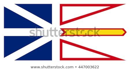 флаг Ньюфаундленд ветер синий баннер Сток-фото © creisinger