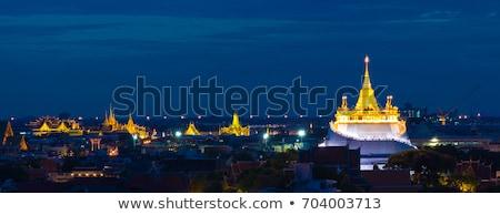 Arany pagoda kép Buddha égbolt fa Stock fotó © Witthaya