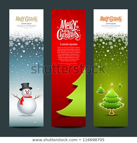 feliz · ano · novo · alegre · natal · banners · dourado · moedas - foto stock © carodi