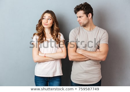 Férfi nő veszekedik szeretet öltöny fiú Stock fotó © photography33