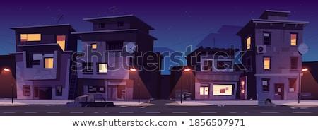 гетто жилой здании город ретро темно Сток-фото © sumners