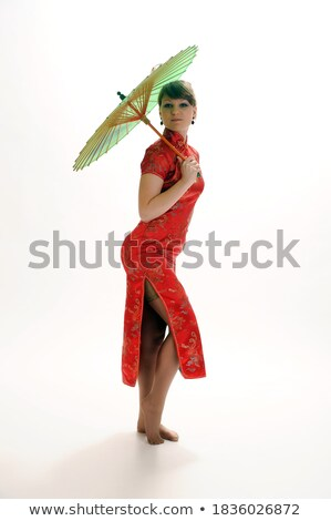 lujoso · hermosa · jóvenes · chino · mujer · posando - foto stock © gromovataya