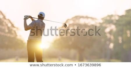 jogador · de · golfe · caixa · jovem · masculino · bola · oceano - foto stock © rtimages