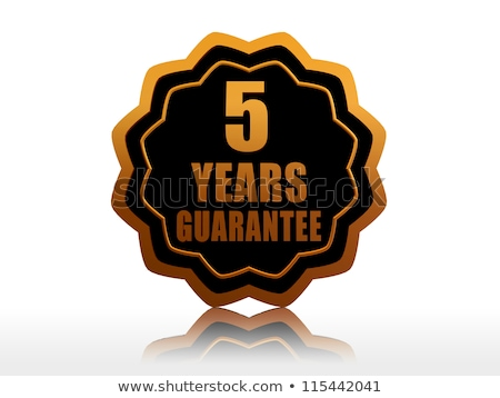 five years guarantee starlike label stock photo © marinini