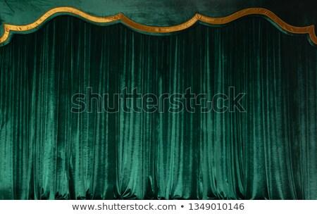 Yeşil tiyatro kadife perde müzik Stok fotoğraf © grivet