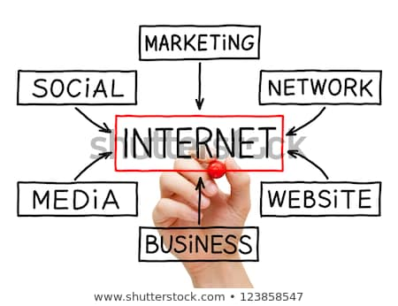 Internet Flow Chart Red Marker Stock photo © ivelin
