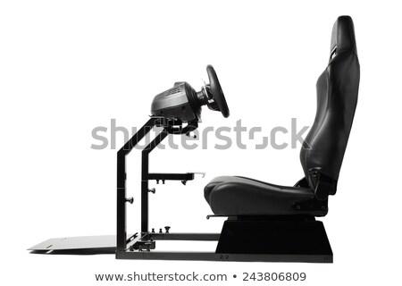 Computador volante isolado branco esportes informática Foto stock © shutswis