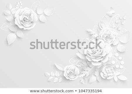 Paper and roses stock photo © yul30