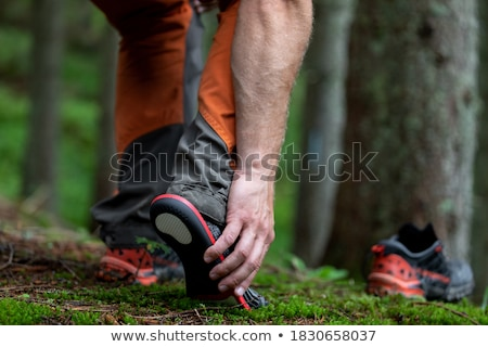 ortopéd · cipő · közelkép · pár · orvosi · bőr - stock fotó © manfredxy