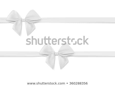 белый лента лук изолированный крест рождения Сток-фото © maisicon