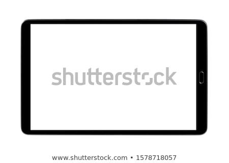 Ekran dotykowy ilustracja biały działalności komputera Zdjęcia stock © karandaev