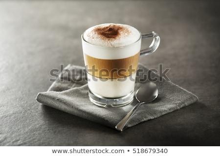 Plate glass and latte macchiato Stock photo © Ustofre9