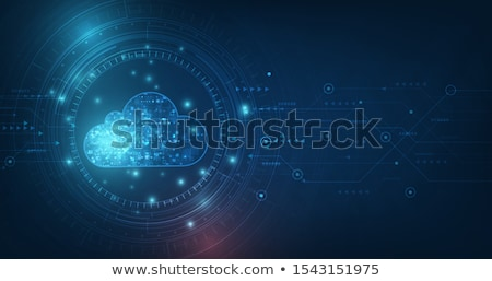 nube · intelligenza · 3D · reso · illustrazione - foto d'archivio © lightsource