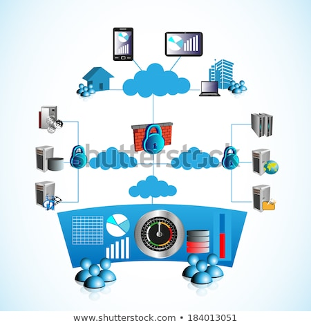 Casa rede on-line router computador globo Foto stock © 4designersart
