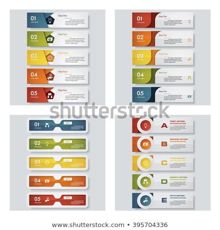 Renkli web menü şablonları Internet arka plan Stok fotoğraf © Kaludov