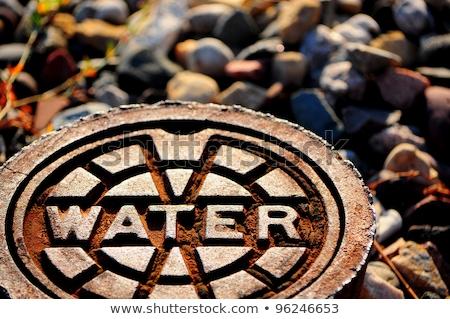 Water supply street lid Stock photo © fxegs