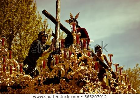Pasen Spanje detail rozenkrans gebed Stockfoto © nito