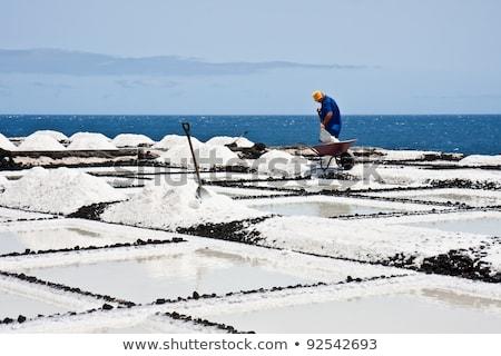 Stock fotó: Só · hegyek · kék · ég · égbolt · ipar · gyár