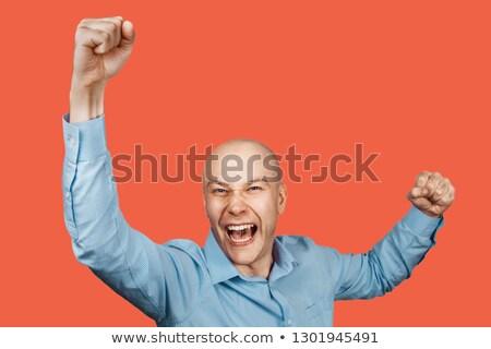 Eccitato calvo imprenditore uomo suit executive Foto d'archivio © photography33